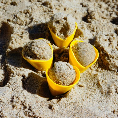 top zabawki piasek piaskownica plaża